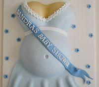 Boy baby shower baby bump cake
