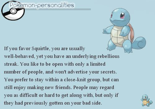 Site where they match personalities based with favorite Pokemon. It's weird how accurate this is!