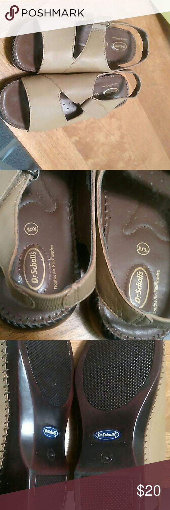 Shoes Women comfortable Dr. Scholl's sandals with Velcro fastener. Like new. Only been worn once. Dr. Scholl's Shoes Sandals