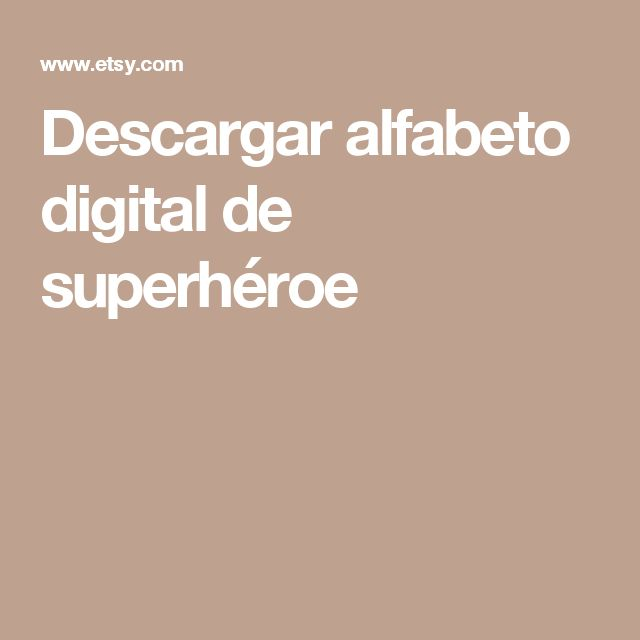 Descargar alfabeto digital de superhéroe