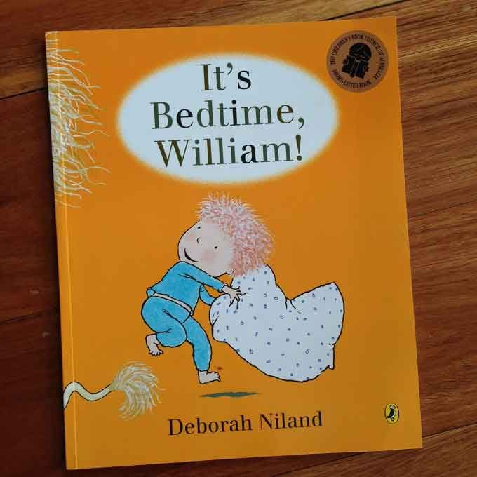 It's bedtime. And William doesn't want to go to bed. He's not at all tired.....