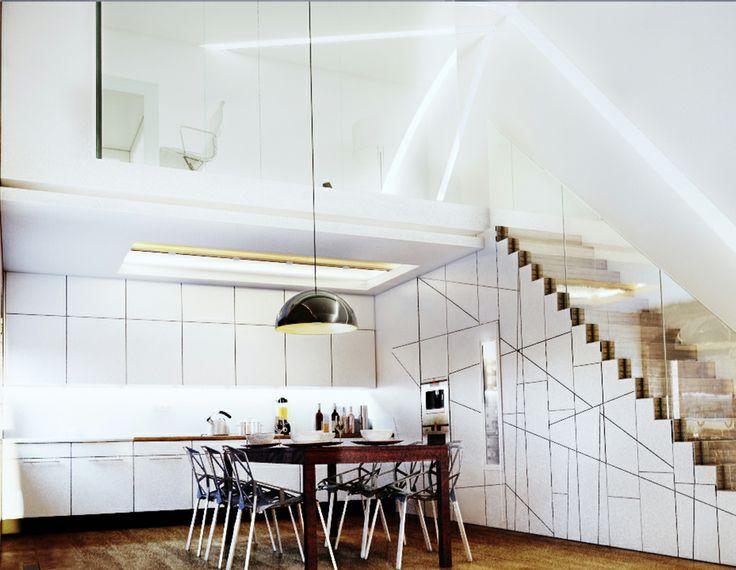 Interior design, Loft 62 in Budapest, Hungary
