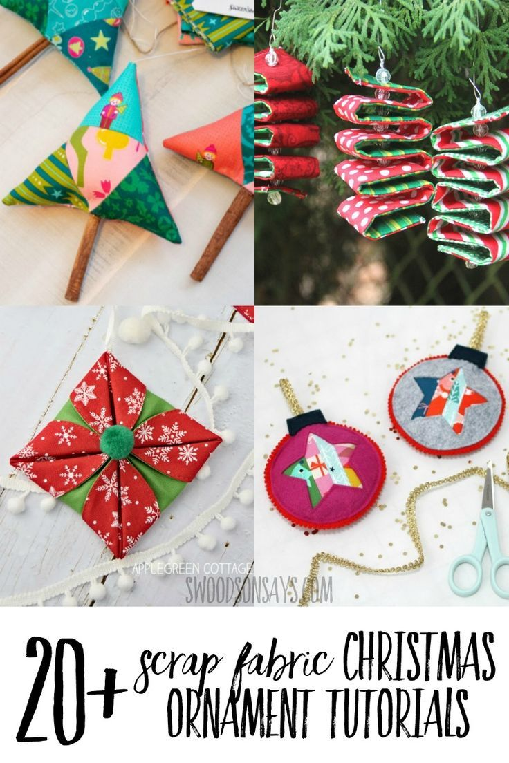 15 Prettiest Fabric Christmas Ornaments Tutorials Fabric Christmas Ornaments Quilted Christmas Ornaments Christmas Diy Sewing