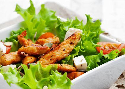 diétny recept - kuracie prsia so šalátom