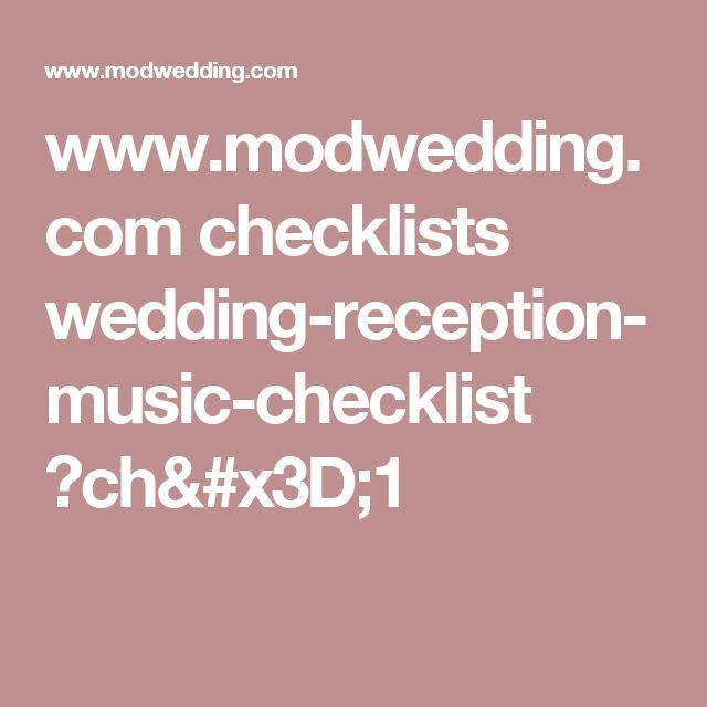 17 best ideas about Wedding Reception Checklist on Pinterest ...