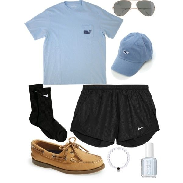 A fashion look from July 2015 featuring Vineyard Vines t-shirts, NIKE activewear shorts and NIKE socks. Browse and shop related looks.