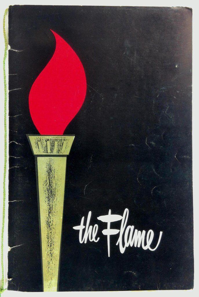 1960's THE FLAME Restaurant Original Vintage Menu Chicago