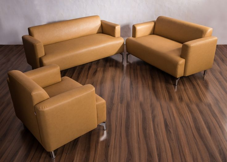WINDSOR Coffee Brown Leatherette Sofa from Durian has a supple Coffee Brown Leatherette upholstery adds class to the soft cushioned backrest and seating.
