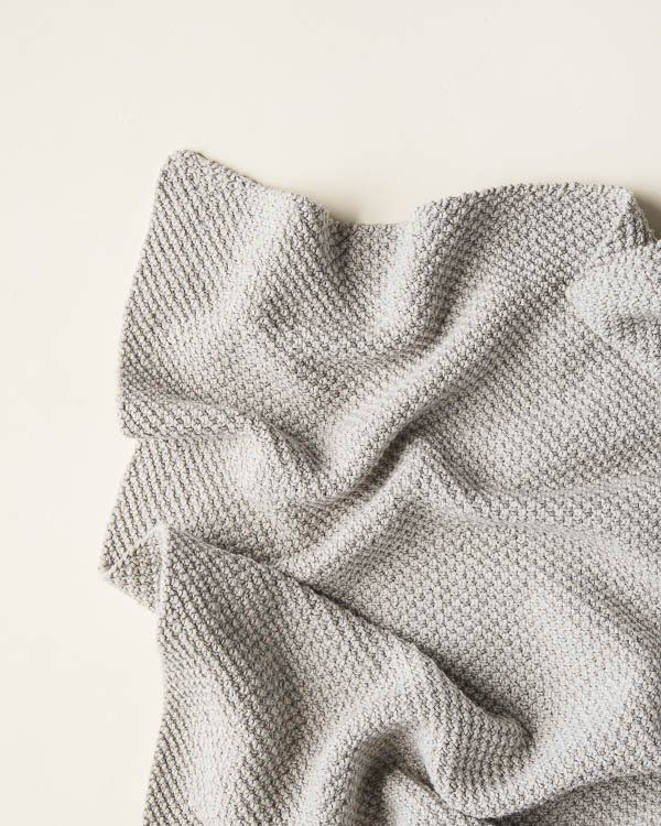 Double Seed Stitch Blanket in Cotton Pure | Purl Soho, Free