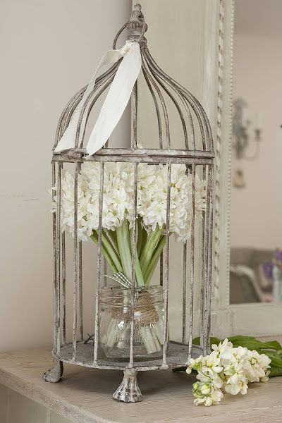 25 best ideas about bird cages decorated on pinterest birdcage decor birdcages and shabby. Black Bedroom Furniture Sets. Home Design Ideas