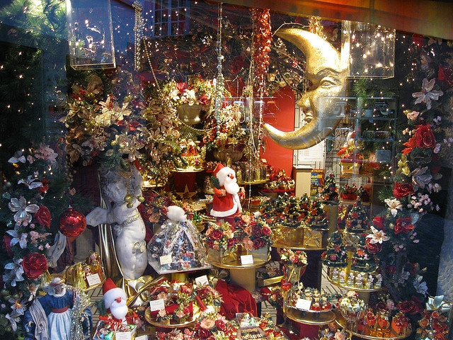 zurich, switzerland - christmas window display