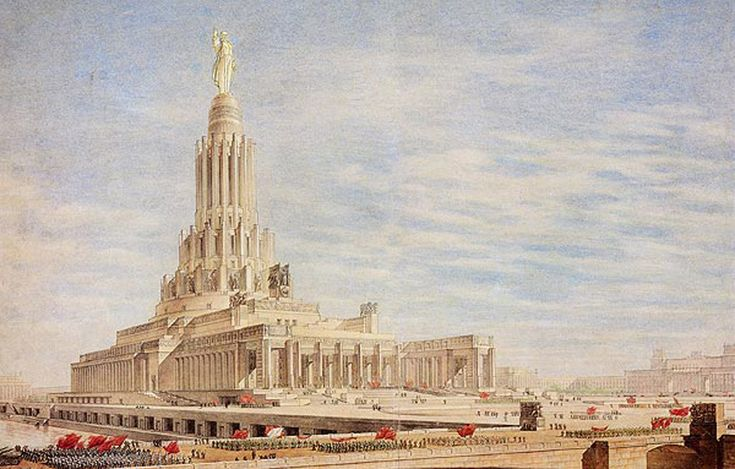 """The tender for the Palace of the Soviets in Moscow was one of the largest and representative architectural competitions of the last century. The idea of erecting a building in the capital of the world's first state for workers and peasants as a symbol of the """"imminent triumph of communism"""" first appeared in the 1920s."""