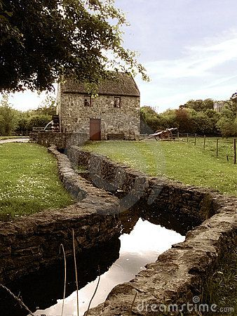 ~Old Irish Mill - likely what my O'Gallagher family Mill looked like?  They were from Donegal area.