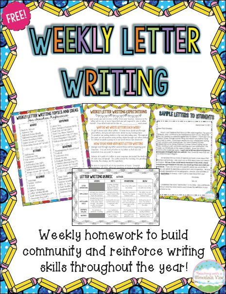Using Weekly Letter Writing In the Classroom - Great freebie and guest blog post by Mary Montero of Teaching With a Mountain View who shares strategies for connecting with your students through letter writing