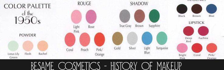 1950s Makeup Secrets Besame Cosmetics The Color Palette