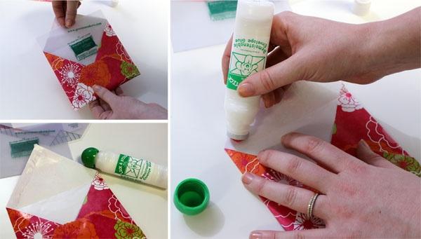 Envelope glues lick type