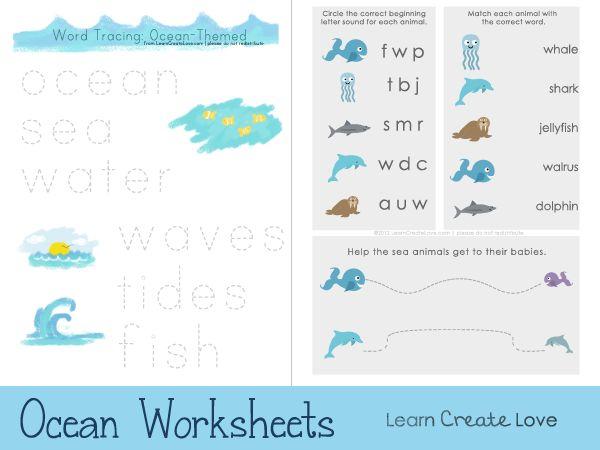 ocean themed printable worksheets for preschoolers from. Black Bedroom Furniture Sets. Home Design Ideas