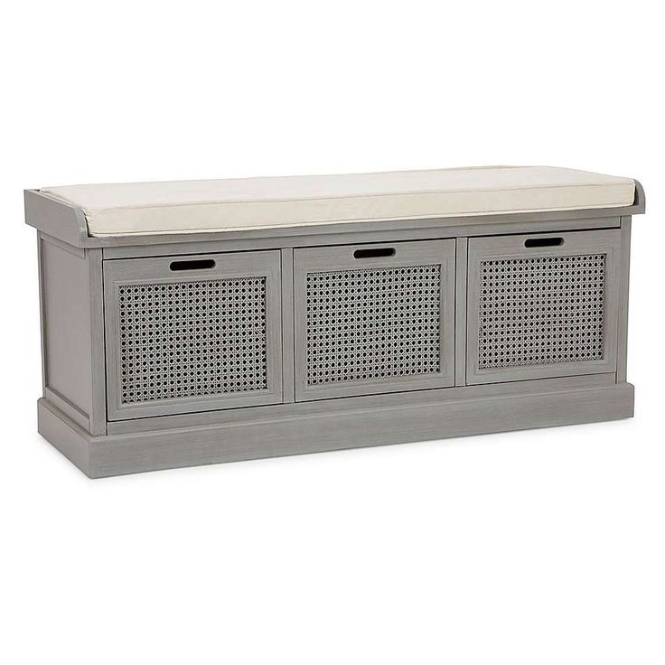 Lucy Cane Grey Storage Bench Living Room In 2019 Grey