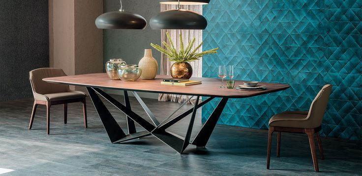 Cattelan Italia Skorpio Wood table by Andrea Lucatello