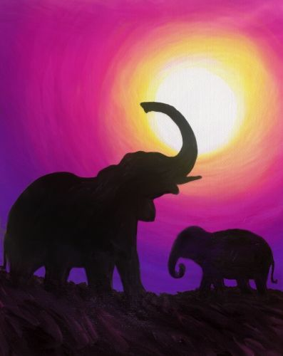Elephant Meadow at Barton's Place-Mt Sinai - Paint Nite Events near Mt Sinai, NY>