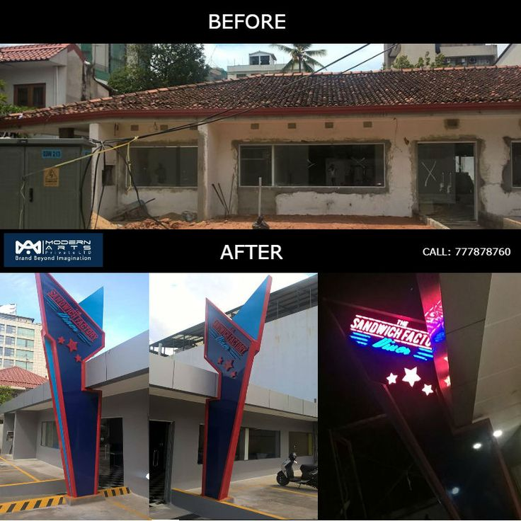 Before & After Pictures of 'The Sandwich Factory Diner' done by Modern Arts.  Call us on +94 777 878760  #ModernArts #Colombo #Srilanka #lka