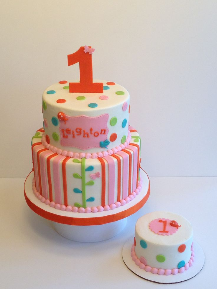 ... green and blue.  Fondant  Pinterest  Pink, 1st birthday cakes and