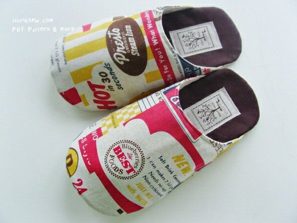 I Think Sew: slipper pattern. It says it's a novice pattern. I wonder if I could make these. Cute!