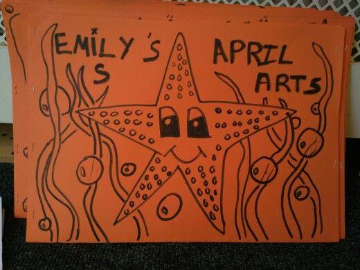 Starfish art folder
