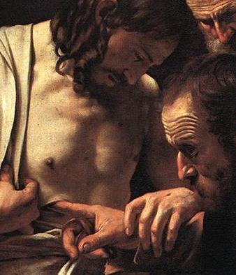 The Incredulity of Saint Thomas - Detail - Caravaggio 1601-02,