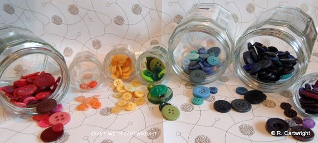 Rainbow buttons by Craft with Ruth Cartwright