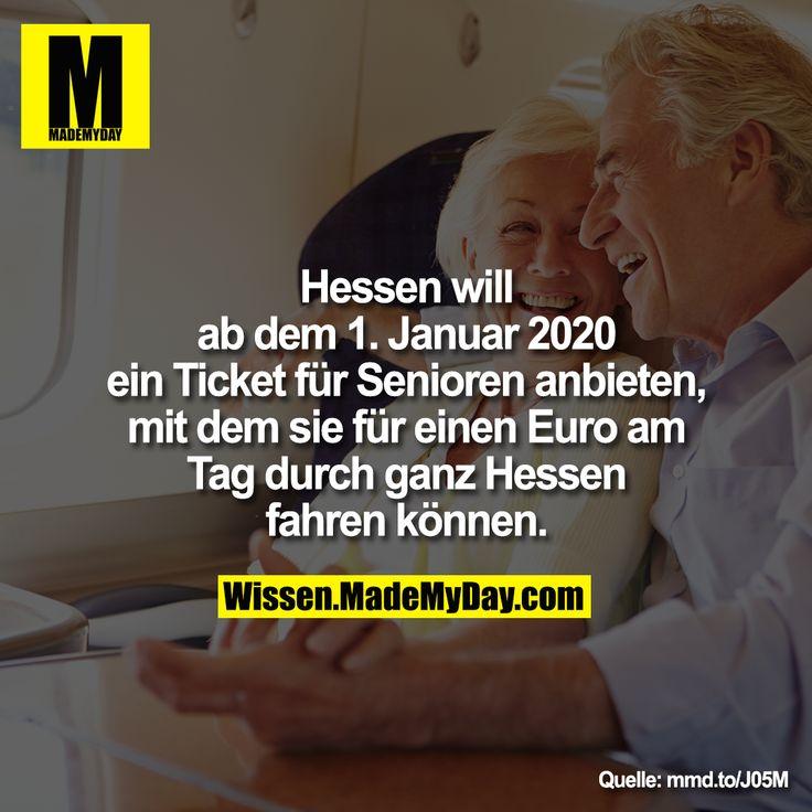Hessen will ab dem 1. Januar 2020 ein Ticket für Senioren ...