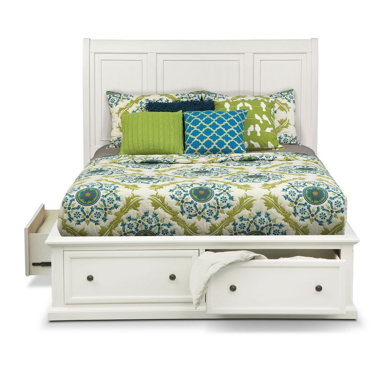 Hanover White King Storage Bed Value City Furniture