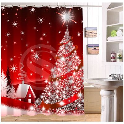 Yy612f 247 New Custom Christmas Gift Modern Shower Curtain Bathroom Waterproof Lj W