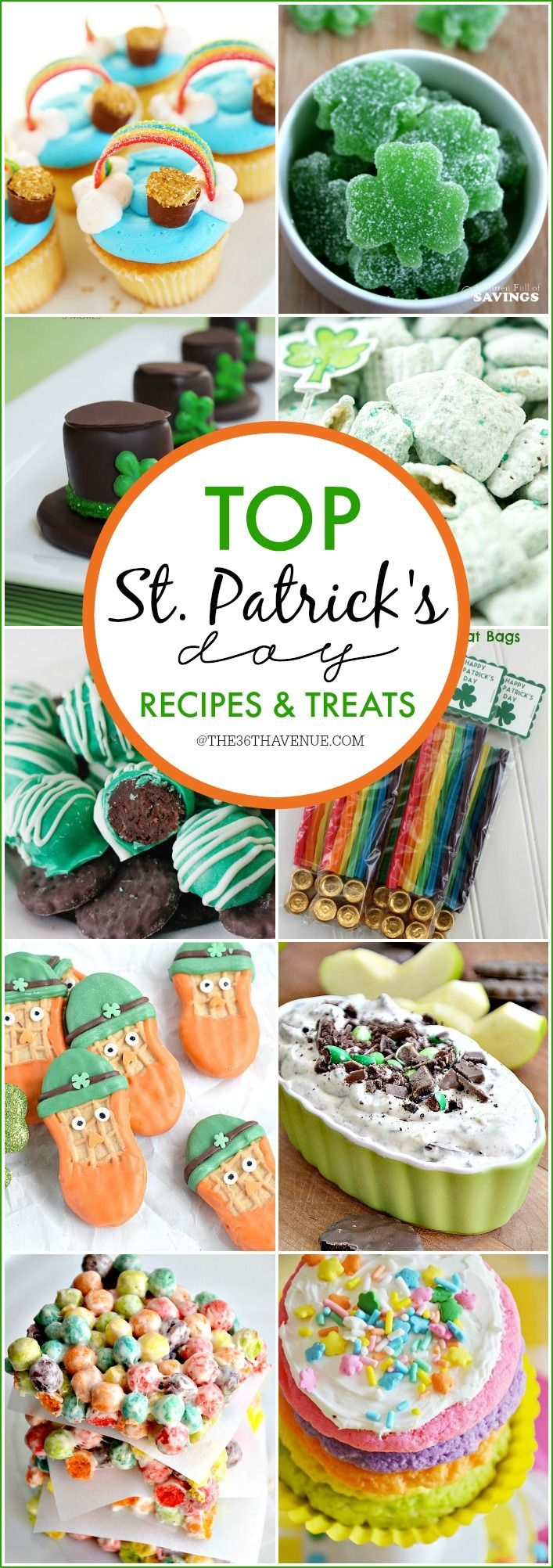 St. Patrick's Day Recipes and Treats - These festive ideas are the cutest recipes ever! PIN IT NOW and make them later!