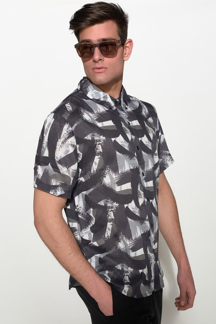 NATIVE YOUTH - PAINTBRUSH PRINT SHIRT #nativeyouth #shirt #men #fashion