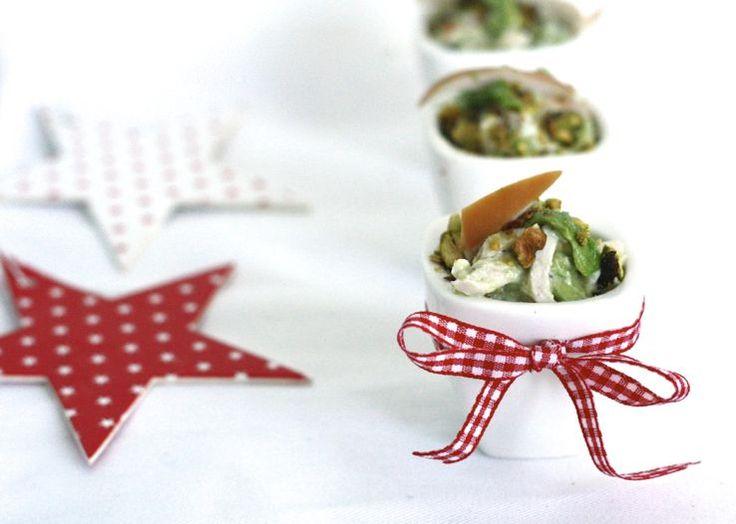 Super Skinny: Amuse met gerookte kip, een heerlijk gerechtje om je kerstdiner mee te starten! #Christmas #xmas #diner