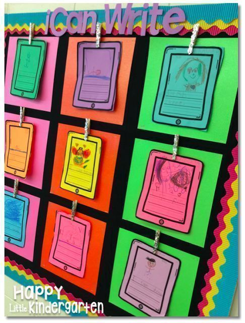 FREE iCan Write: iPod Writing Paper and Prompt. iPod writing paper. iPod bulletin board.