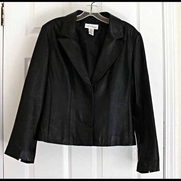 Croft & Barrow Black Lambskin Leather Jacket Great quality Croft & Barrow Lambskin leather jacket. Very stylish! Offers invited! Croft & Barrow Jackets & Coats