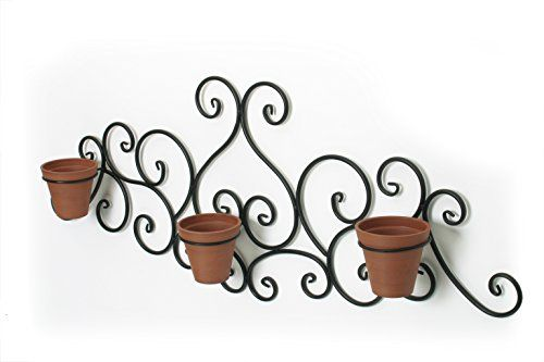 Algreen Victorian Scroll Wall Art with Planter, Terra Cotta #Algreen #Victorian #Scroll #Wall #with #Planter, #Terra #Cotta