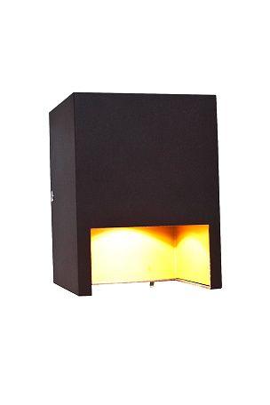 Av metall. Høyde: 12 cm, lengde: 9 cm, dybde: 9 cm. GU10 maks 35W. På/av knapp på platen. For fast installasjon, ledningsutgang finnes.