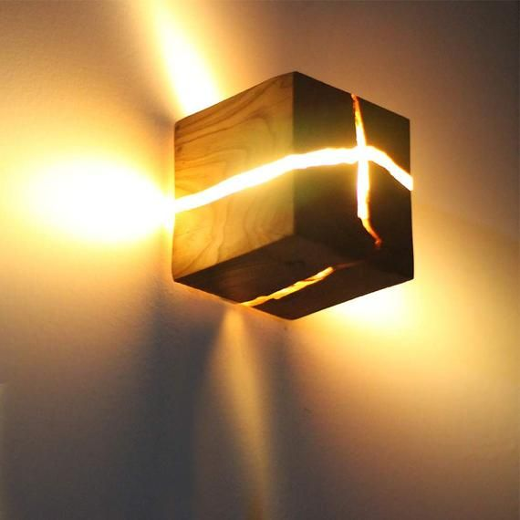 Wall Light Led Wall Decoration Home Decor Resin Light Wood Light Custom Designs Other Materials Colors Available In 2020 Wood Wall Lamps Wall Lights Wall Lamp