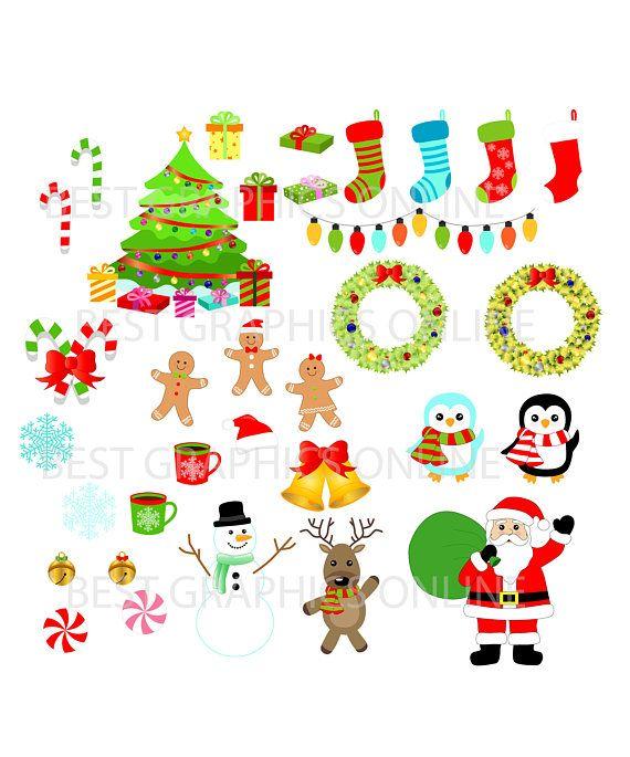 80% uso de venta comercial Santa Claus Clipart medias de