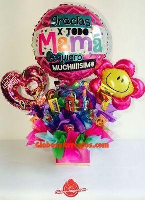 Regalo para la mejor mamá, Detalle para mi mamá, Regalo día de las madres, Flores para el dia de las madres, Regalo diferente para mamá, Arreglo de globos monterrey