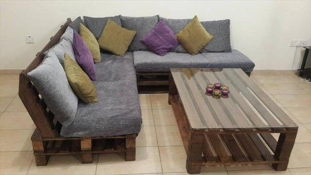 Diy Paletten L Formiges Sofa Couchtisch Fur Wohnzimmer Diy Palettenmobel Sofa Set Designs Und Sofa Aus Paletten