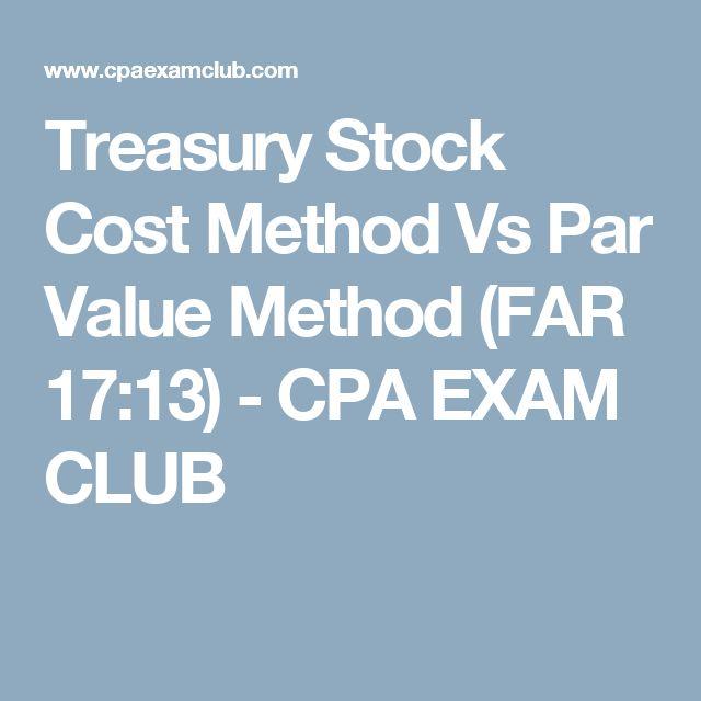 Treasury Stock Cost Method Vs Par Value Method (FAR 17:13) - CPA EXAM CLUB