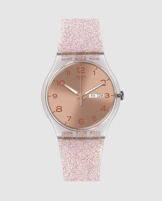 Reloj de mujer Pink Glistar Swtach