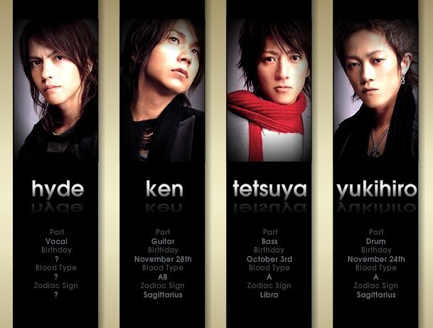 Hyde, Ken, Tetsu, Yuki