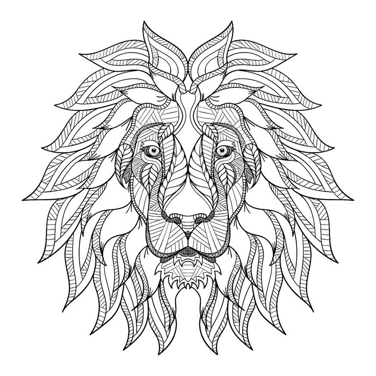Lion head with big mane Lions JustColor Discover all