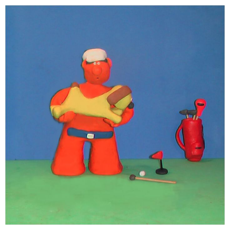Bob was nervous about his 2ft puttbut suspected his caddy was also feeling the pressure Yikes  #golf #fun #tips #art #dog #funny #photo #artist #golfwang #golflife #creative #design #bob_scooby #picoftheday #artoftheday #cute #humor #polymerclay #golfing #handmade #sculpture #artgallery #golftips