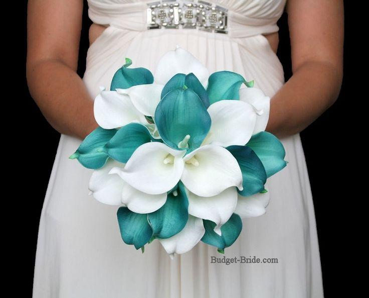 Teal Calla Lily Wedding Flowers